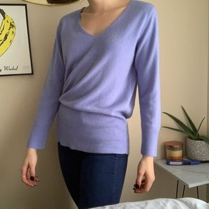 Periwinkle V Neck Carolyn Taylor Sweater